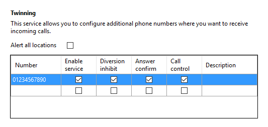 Call settings Anywhere tab