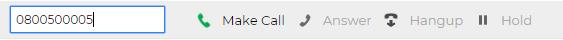 Make Call window