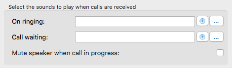 Call Events sound options