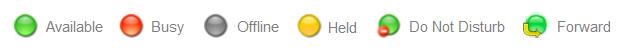 Call status icons