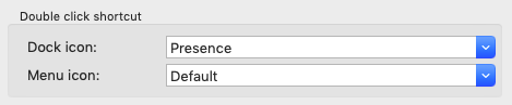 Double click shortcuts