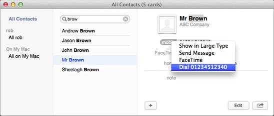 Address Book dialing