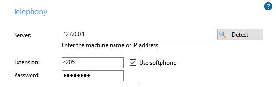 Softphone configuration example