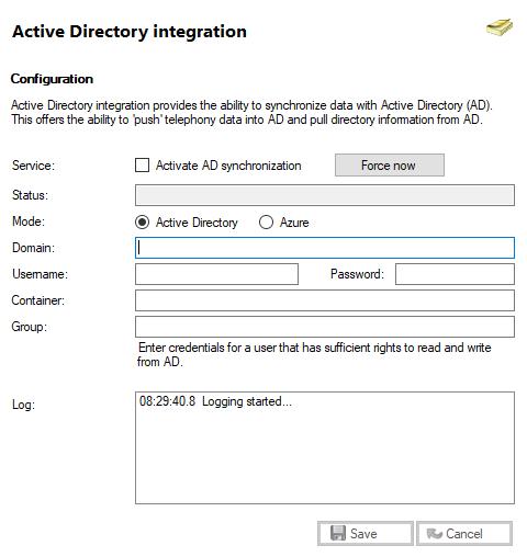 Active Directory window