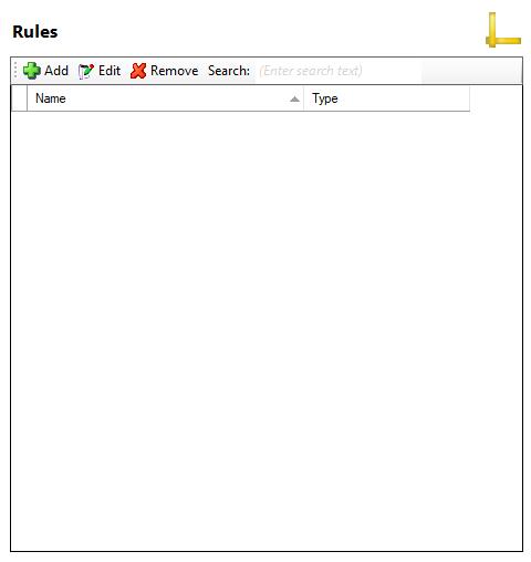 User settings window