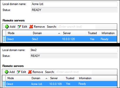 Remote servers lists